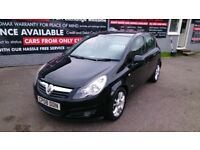 2008 VAUXHALL CORSA 1.2 SXI 5 DOOR HATCH IN BLACK MAY 2018 MOT ONLY 60K WITH F/S/H ALLOYS CD E/W E/M