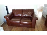 Free sofa's to a good home. 3 & 2 seater leather sofa. Needs to go NOW !!