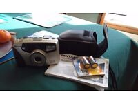 Pentax38-105mm, ESPIO105G, zoom 35 m camera with case and instructions.