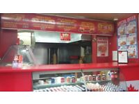 Takeaway TEXAS Fast Food Business For Sale - Busy Main Road Corner Shop - Flat Included Cheap Rent