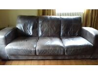 3 seater leather sofa for sale. Buyer to collect.