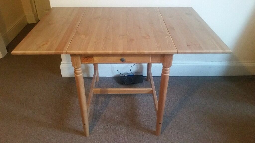 Ikea INGATORP Drop leaf table in antique stain in  : 86 from www.gumtree.com size 1024 x 576 jpeg 63kB