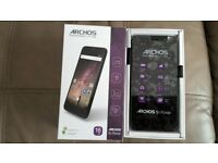 Archos Power 50 SMARTPHONE 4g Brand New Boxed Unlocked Twin Sim Touchscreen 13mp Camera