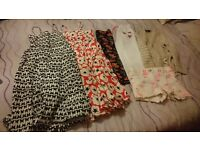 Girls clothes bundle age 5. Maxi dresses x2, Next shorts, leggings x1, tracksuit bottom x1, cardi x1