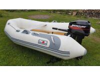 Avon Rover 2.8 Rib, 10hp mercury 2 stroke outboard, good trailer
