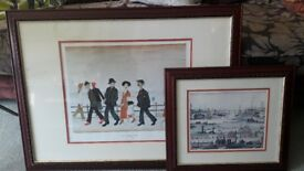Two L S Lowry Framed Prints