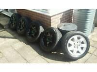 Bmw alloys x5, refurbed, new tyres. Vw T5