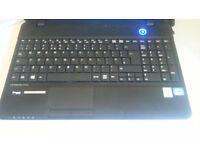 """All Black Great Condition 15"""" ICORE3 I3 4 corelogical WINDOWS10 Laptop"""
