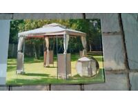 A 2.5 x 2.5 meter square luxury steel frame gazebo