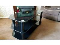 tv glass stand width 41 inches depth 18 inches height 19 inches excellent condition