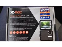 RAC dashcam brand new never used