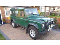 landrover land rover defender march 2006 td5 110 9 seater 5 door station wagon tax £295 per year