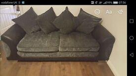 Sofa 3 seater dark grey/ black