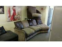 Corner sofa & swivel chair ( 3 months warranty & free delivery)