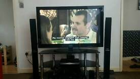 "Samsung TV 50"" + home cinema Panasonic +TV stand"