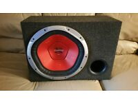 CAR SUBWOOFER SONY XPLOD 1400 WATT 15 INCH SPEAKER WITH PORTED ENCLOSURE BASS BOX SUB WOOFER