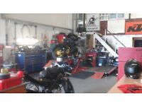 long established busy motorcycle servicing / repair business for sale due to ill health 01273 595555
