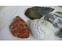 Collection of fish tank rocks decorative real aquatic aquarium (lot 4)