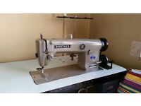 Brother DB2-B755-3 single-needle Industrial Sewing Machine with table