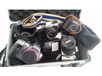 SEVERAL SECOND HAND CAMERAS FOR SALE