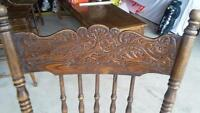 ANTIQUE CHAIRS (6) & TABLE