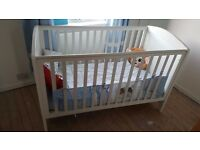 BABY COT WITH MATTRESS & TRAVEL COT