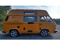 T25 VW camper van, high top, long mot,