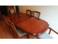 Used Mahogany Dining table + 6 chairs