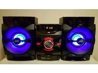 JVC MX‑DN550 Megasound Hi‑Fi System ‑ Black