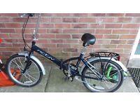 Activ by Raleigh Unisex Adult Steel Folding Bike - Blue, 20-inch Wheel, 12 Inch Frame