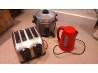 Rice Cooker, Kettle & Toaster