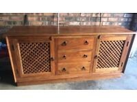 Solid Wood Unit & Dining Table and Chairs