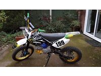 Welsh Pit Bike 140cc Z40 CRF70 Monster Decal 4speed manual, kick start chain drive 2previous oweners