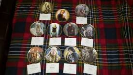 11 Danbury Mint Lord of the Rings plates