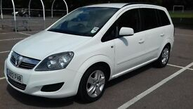 VAUXHALL ZAFIRA EXCLUSIVE, 1.6.i.1 Owner from New July 2012. Low Mileage, Petrol, Manual,