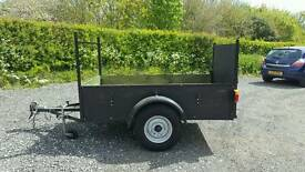 6 X 4 TRAILER WITH DROP DOWN BACK FULL ELECTRICS GARDEN WORK CLEARANCE RUBBISH