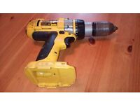 Dewalt 18 v DC988 metal chuck cordless comb, hammer drill 3 speed ( BARE UNIT ) see photos & detail