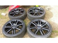 18 inch alloys FOR AUDI AKODA SEAT VW TOYOTA .5 STUD MULTI FIT.5×100.5×112