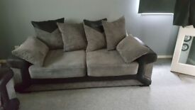 Jumbo 3 seater sofa and 2 seater
