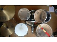 Drumkit, good quality skins, included key, sticks and throne