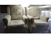 3 piece suite 2 chairs and 3 seat sofa