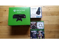 XBox One and controller plus optional games and headset - boxed, great condition, hardly used