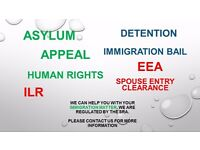Immigration Law Solicitors, Asylum, Appeal, ILR, EEA, FLR, Detention, Tier 4, Entry Clearance, HR