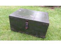 Very Heavy Military Trunk/Industrial coffee table/ tool box