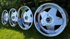 Wheels Borbet A 16s 4x100 width J7.5 and J9 offset ET20 and ET15 Staggered