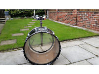 Bass Drum with tom tom mounts