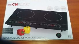 Induction double hotplate