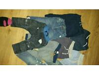 Boys bundle of trousers 12-18 x9 pairs - next h&m