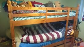 Bunk beds solid heavy pine
