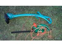 Bosch strimmer and Black and Decker hedge trimmer